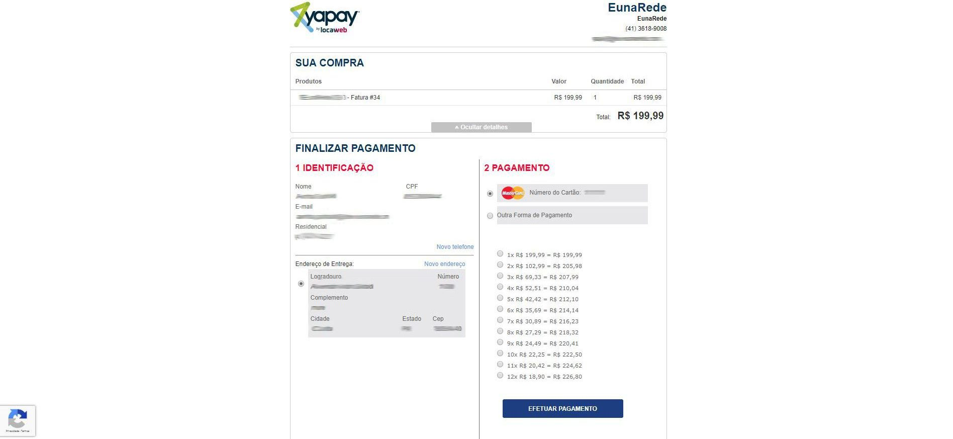 Making the Payment with Yapay for WHMCS